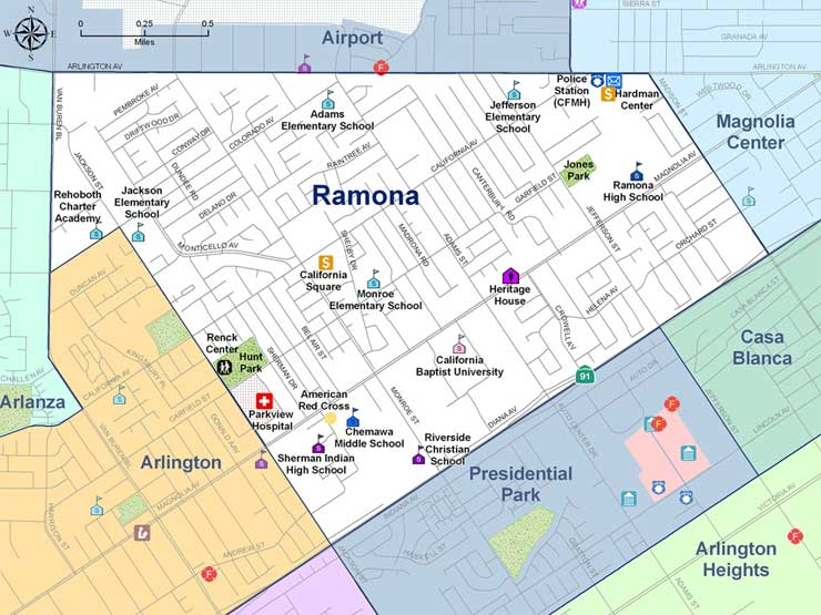 Riverside California City Of Arts Innovation At Home In - California map ramona