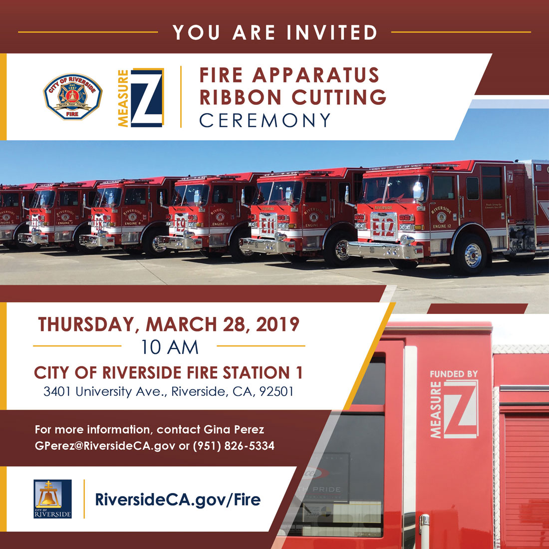 Flyer for ribbon cutting event