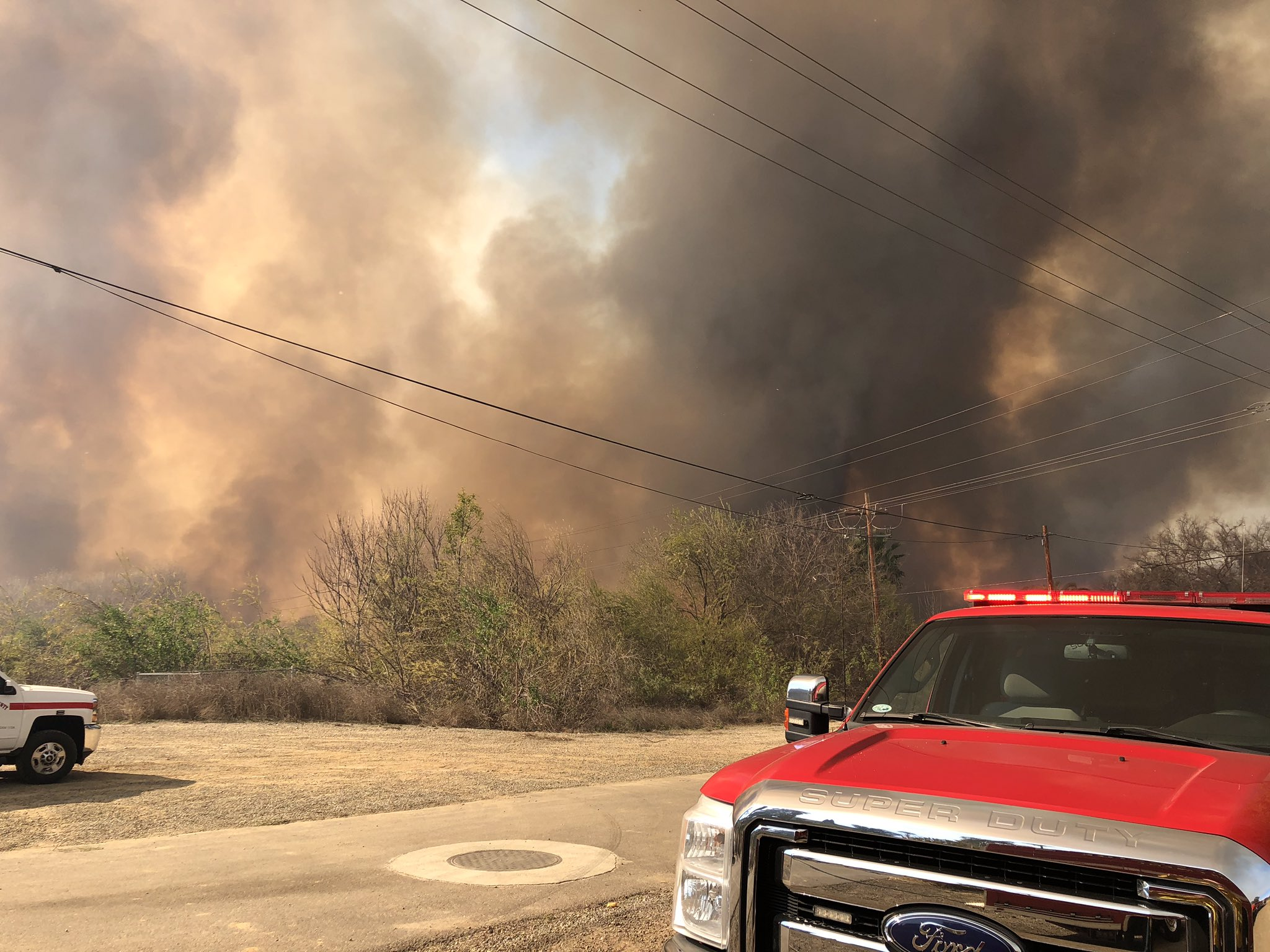 heavy smoke from riverbottom fire