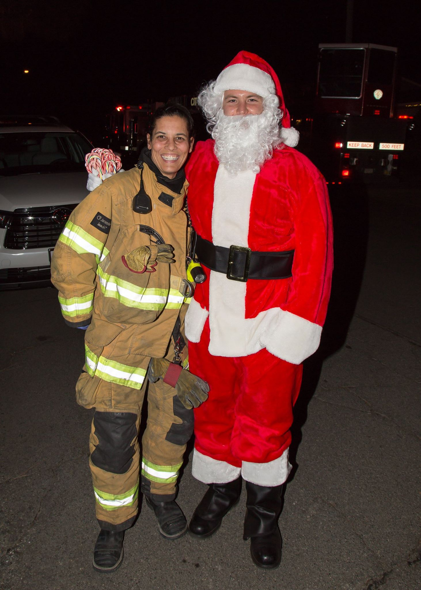 Santa and Fire Fighter