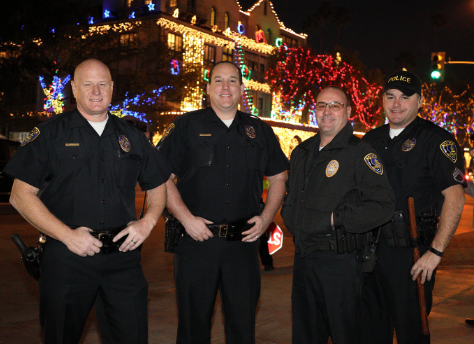Riverside Police Officers at Festival of Lights